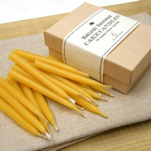 Natural Beeswax Birthday Cake Candles